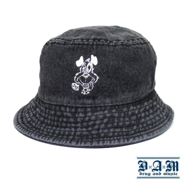 画像1: [DxAxM]-DOG BUCKET HAT-DENIM BK- (1)