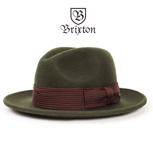 画像1: [Brixton]-NELSON FEDORA HAT-MOSS- (1)