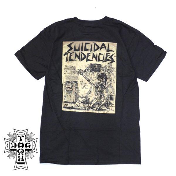 画像1: [DOGTOWN]-Suicidal T-Shirt Punk Flyer Tee-BK- (1)