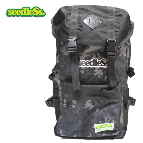 画像1: [seedleSs]-coverd back pack-camo- (1)