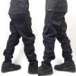 画像3: [NEO BLUE]-7601 Black Twill Jogger Pants- (3)