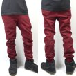 画像3: [NEO BLUE]-7610 BURGUNDY Twill Jogger Pants- (3)
