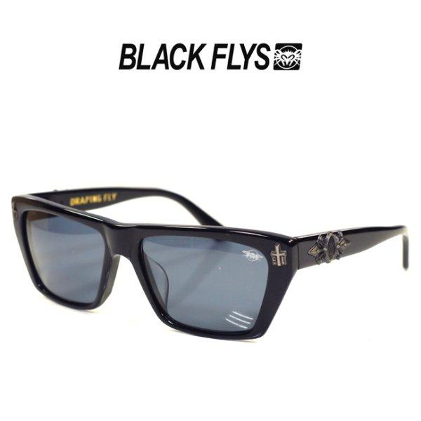 画像1: [BLACK FLYS]-DRAPING FLY-S.BLK/SMK- (1)