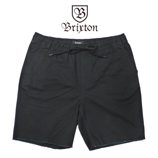 画像1: [BRIXTON]-MADRID SHORTS-BLACK- (1)