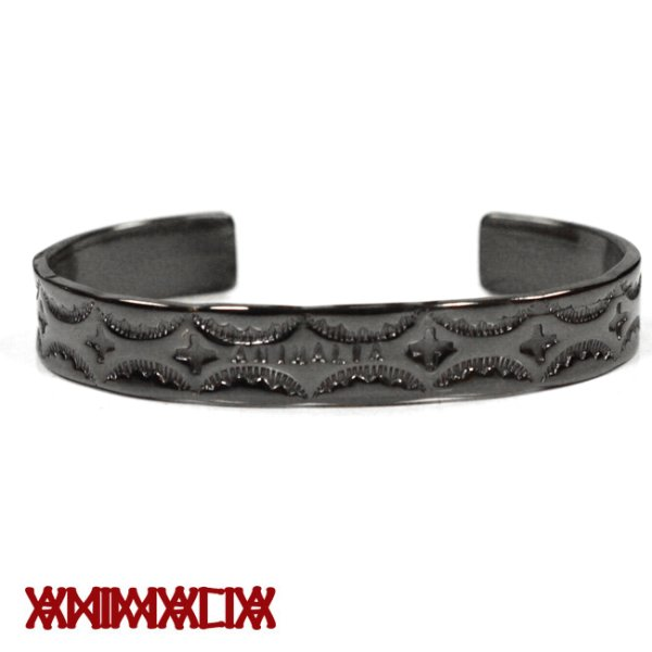 画像1: [ANIMALIA]-ZINC BANGLE-bull rope-BLACK- (1)
