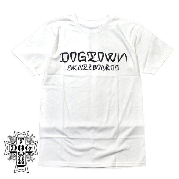 画像1: [DOGTOWN]-Dogtown Ese' Shirt-WHITE- (1)