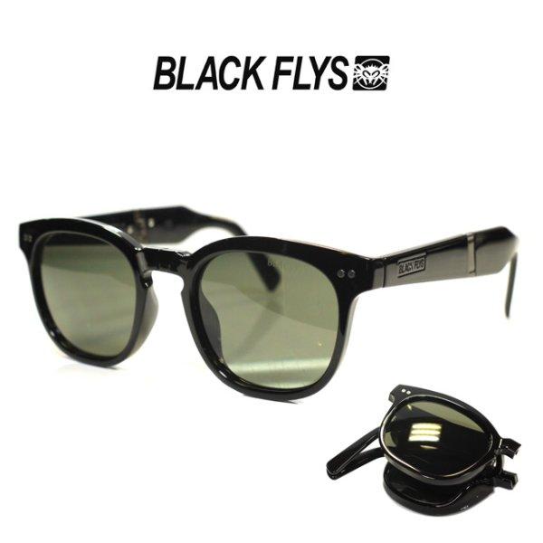 画像1: [BLACK FLYS]-サングラス-FLY GIBSON FOLD-BLK/GRN- (1)