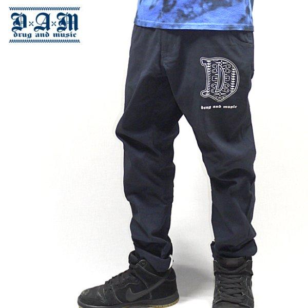 画像1: [DxAxM]-Easy Chino Pants-Navy- (1)