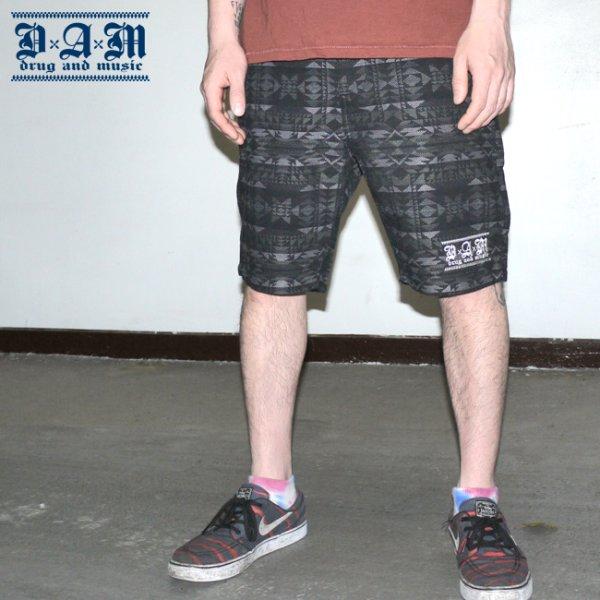 画像1: [DxAxM]-NATIVE BLACK Shorts- (1)