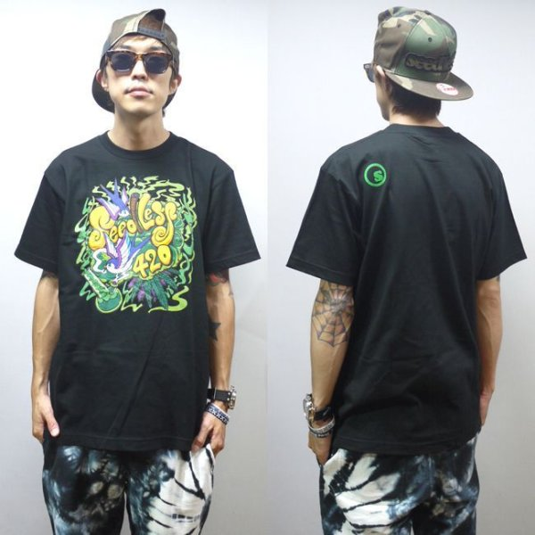 画像1: [seedleSs]-weed bird 420 Tシャツ-Black- (1)