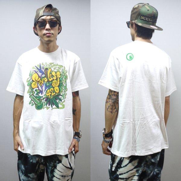 画像1: [seedleSs]-weed bird 420 Tシャツ-white- (1)