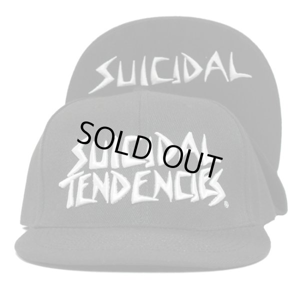 画像1: [SUICIDAL TENDENCIES]-ST Full Embroidered Custom Snapback-BLACK- (1)