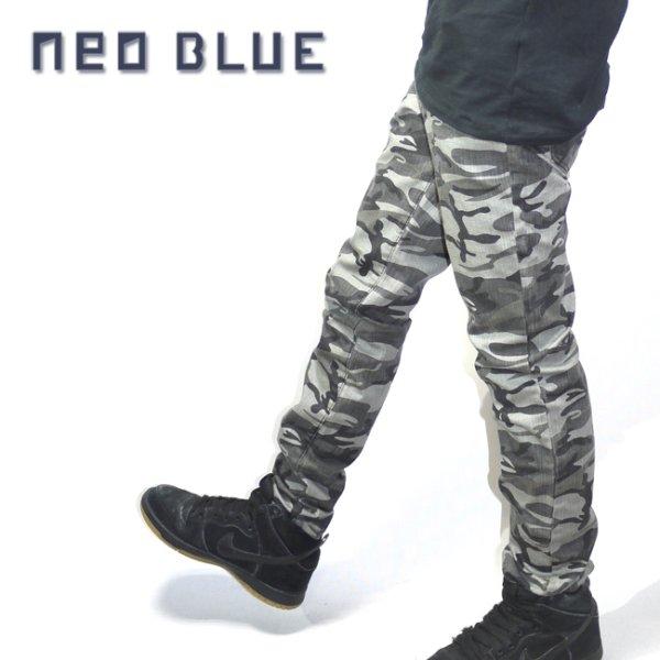 画像1: [NEO BLUE]-427 Camo Black Skinny- (1)