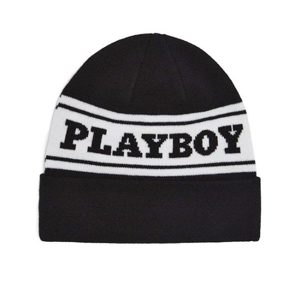 画像1: [GOOD WORTH X PLAYBOY]-Logo Beanie- (1)