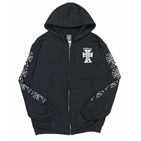 画像1: [Jay Adams]-Original Cross Logo Zip Hood-Black- (1)