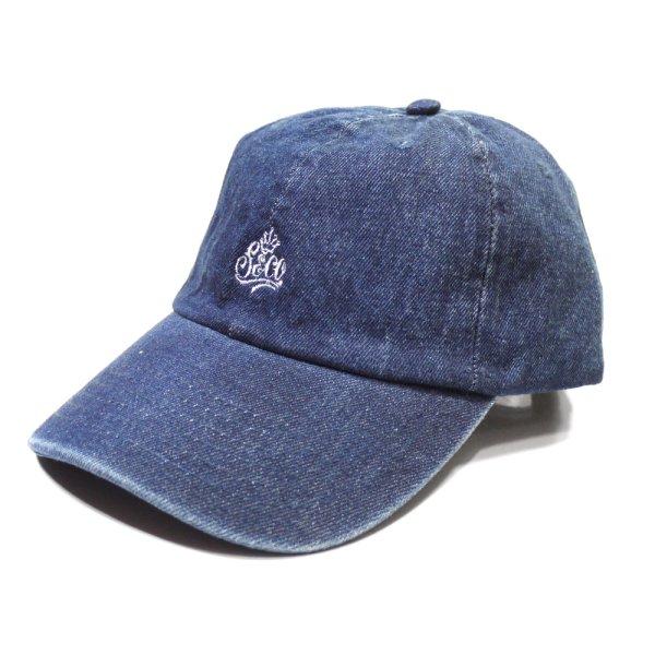 画像1: [SLIP&Co.]-6 Pannel Cap-Denim Blue- (1)