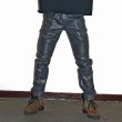 画像3: [NEO BLUE]-MC-8532 RUSTIC METAL GRAY MOTO JEANS- (3)