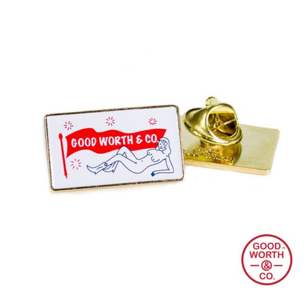 画像1: [GOOD WORTH]-Jane Fondle Logo Pin- (1)