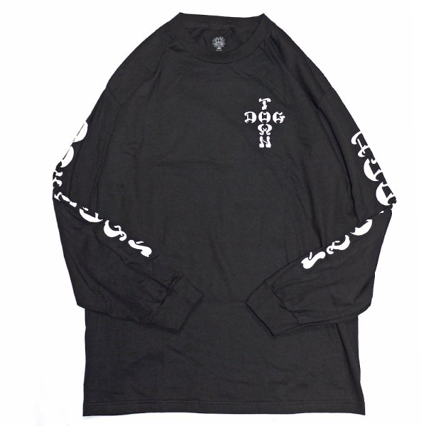 画像1: [DOGTOWN]-Cross Logo L/S Tee-BLACK- (1)