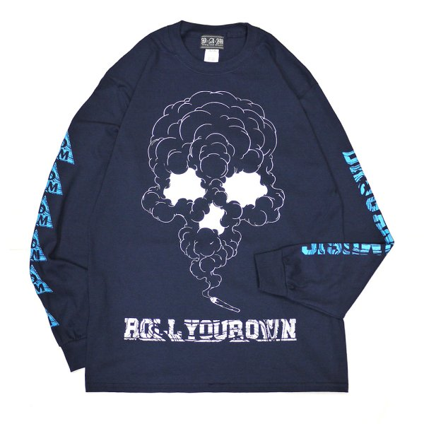 画像1: [DxAxM]-ROLL YOUR OWN L/S Tee-NAVY- (1)