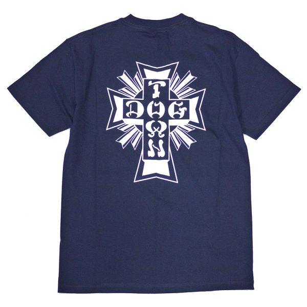 画像1: [DOGTOWN]-Cross Logo S/S Tee-NAVY- (1)