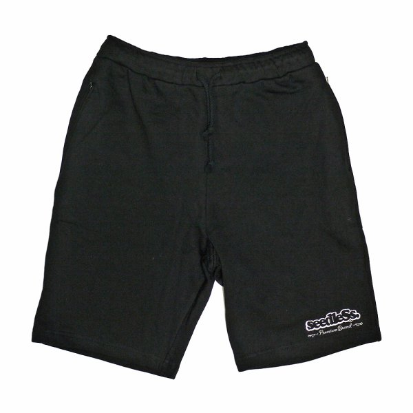 画像1: [seedleSs]-sd original stash pocket sweat shorts-BK- (1)
