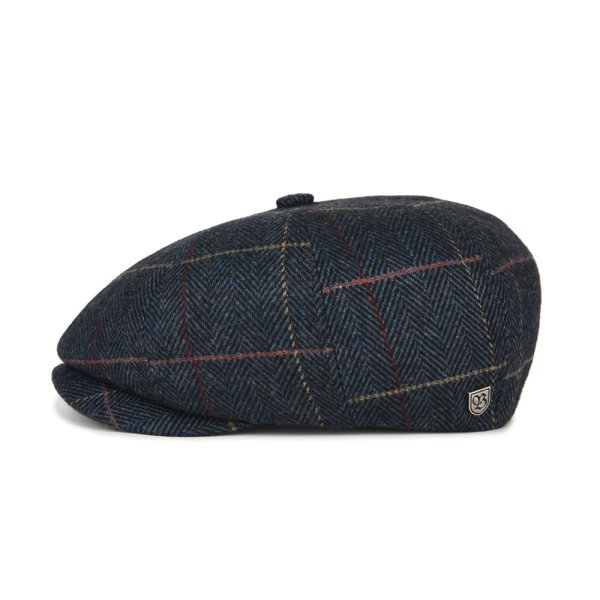 画像1: [BRIXTON]-BROOD SNAP CAP-NAVY PLAID- (1)