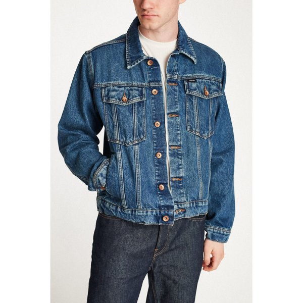 画像1: [BRIXTON]-CABLE DENIM JACKET- (1)