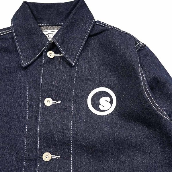 画像1: [seedleSs]-SD DENIM COVERALL JACKET-IT INDIGO- (1)