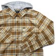 画像5: [BRIXTON]-BOWERY HOOD L/S FLANNEL-COPPER/NATURAL- (5)