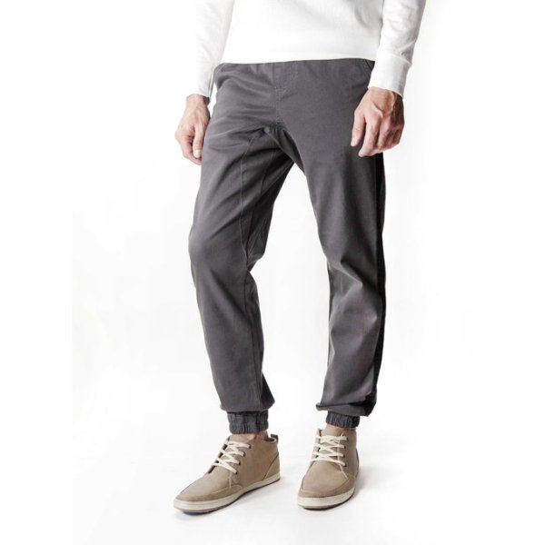 画像1: [NEO BLUE]-7642 CHARCOAL STRIPE JOGGERS- (1)