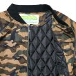 画像3: -40%off-[seedleSs]-ZIP UP QUILTED JKT-CAMO- (3)