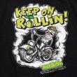 画像3: [seedleSs]-KEEP ROLLIN Tシャツ-Black- (3)