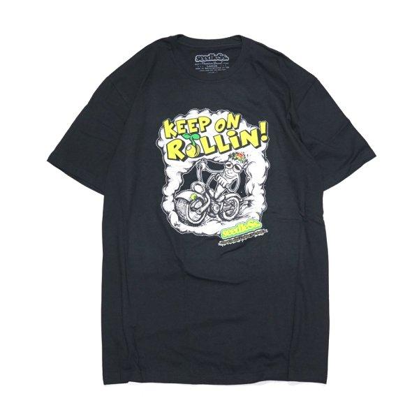 画像1: [seedleSs]-KEEP ROLLIN Tシャツ-Black- (1)