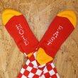画像3: [SURF SKATE CAMP]-Checker Socks-RED- (3)