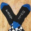 画像3: [SURF SKATE CAMP]-Checker Socks-BLACK- (3)