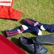 画像1: [SURF SKATE CAMP]-Two Line Socks-NAVY- (1)