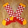画像2: [SURF SKATE CAMP]-Checker Socks-RED- (2)