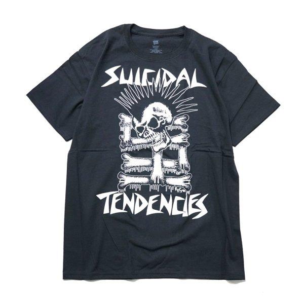 画像1: [SUICIDAL TENDENCIES]-TS 34 Mohawk Skull- (1)