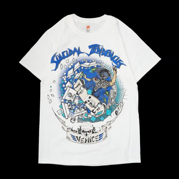 画像1: [SUICIDAL TENDENCIES]-TS 11 Venice Skater-WHiTE- (1)
