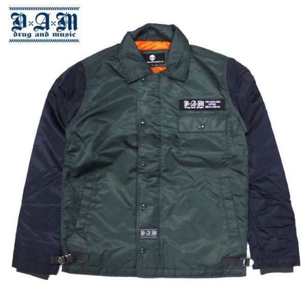 画像1: -60% off-[DxAxM]-A-2 JACKET-GRY/NAV- (1)
