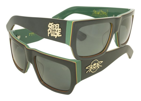 画像1: [BLACK FLYS]-STEEL PULSE FLYS-BLK-GRN/GREY- (1)
