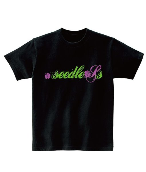 画像1: [seedleSs]-Hawaiian style S/S Tee-BLACK- (1)