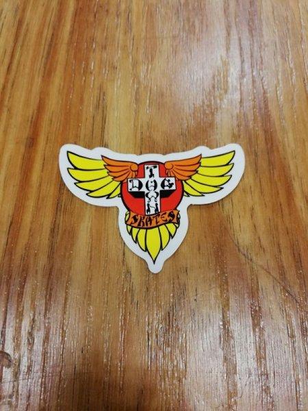 """画像1: [DOG TOWN]-Wings STICKERS-YEL/RED-2.5""""- (1)"""