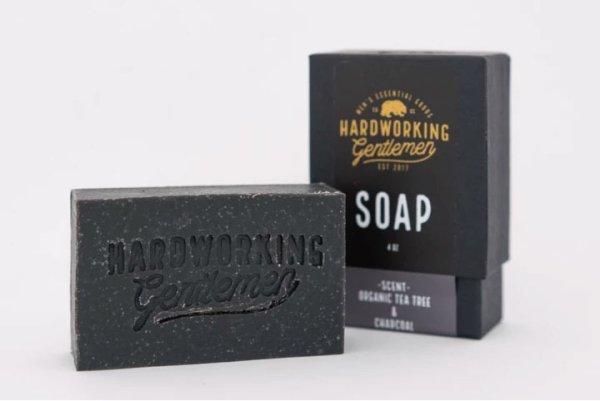 画像1: [HARDWORKING GENTLEMEN]-Organic TeaTree & Charcoal Soap- (1)