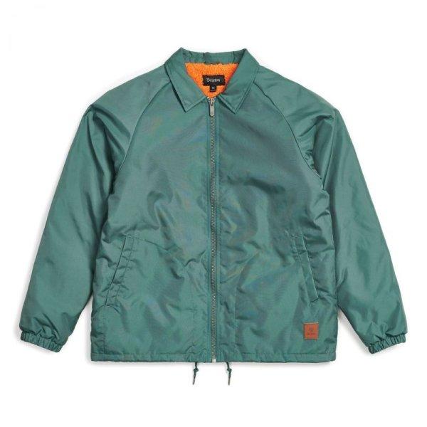 画像1: [BRIXTON]-CLAXTON COLLAR SHERPA Jacket-EMERALD- (1)