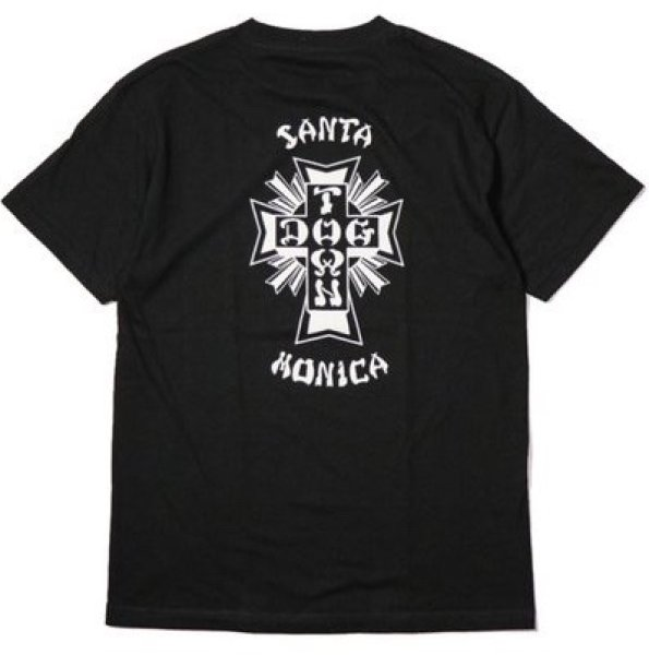画像1: [DOGTOWN]-Cross Logo x Santa Monica Tee-BLACK- (1)