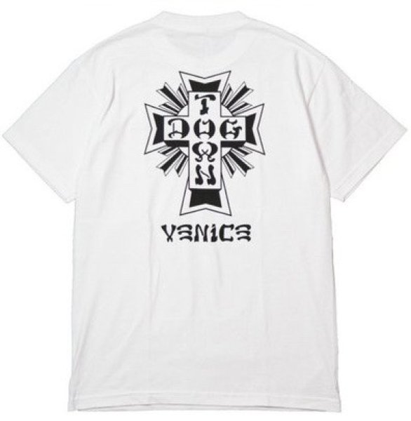 画像1: [DOGTOWN]-Cross Logo x VENiCE Tee-WHITE- (1)