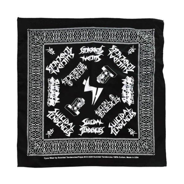 画像1: [SUICIDAL TENDENCIES]-ST Logos BANDANA-BLACK- (1)
