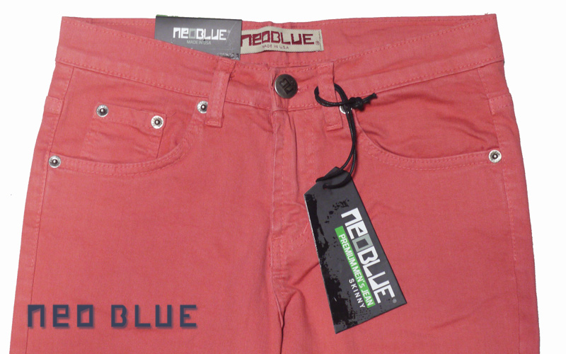 NEO BLUE jogger pants スキニー SKINNY   コーラル ピンク 通販